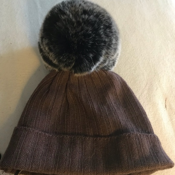 ec793ce4925 Belle Enfant Cashmere Blend Infants Hat w Fur NWT